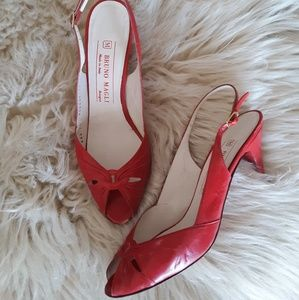 Red Hot Vintage - Bruno Magli Slingbacks